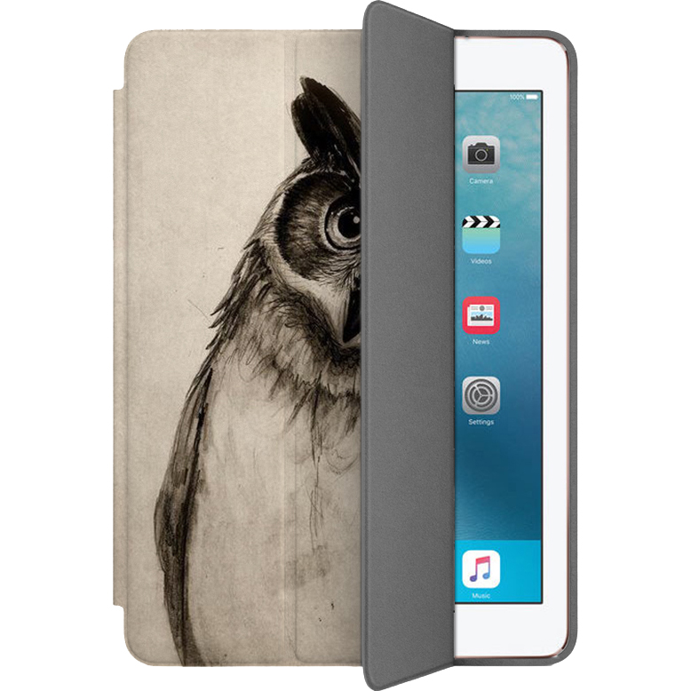 Чехол Muse Smart Case для iPad Pro (10.5) Сова 2Чехлы для iPad Pro 10.5<br>Чехлы Muse Smart Case — это индивидуальность, насыщенность красок, оригинальные принты и надёжная защита от повреждений.<br><br>Цвет товара: Бежевый<br>Материал: Поликарбонат, полиуретановая кожа