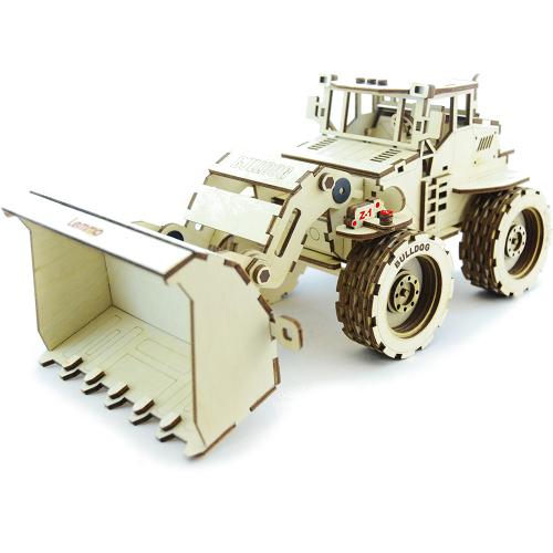 Конструктор 3D Lemmo деревянный Трактор «Бульдог»3D пазлы, конструкторы, головоломки<br>Конструктор Lemmo 3D деревянный, подвижный - Трактор Бульдог<br><br>Цвет товара: Бежевый<br>Материал: Натуральное дерево