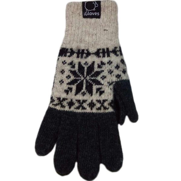 Перчатки шерстяные iGloves для iPhone/iPod/iPad/etc со снежинками бежевые (Размер M)Перчатки для экрана<br>Перчатки iGloves  — отличный подарок на Новый Год!<br><br>Цвет товара: Бежевый<br>Материал: 50% - шерсть, 50% - акрил<br>Модификация: M