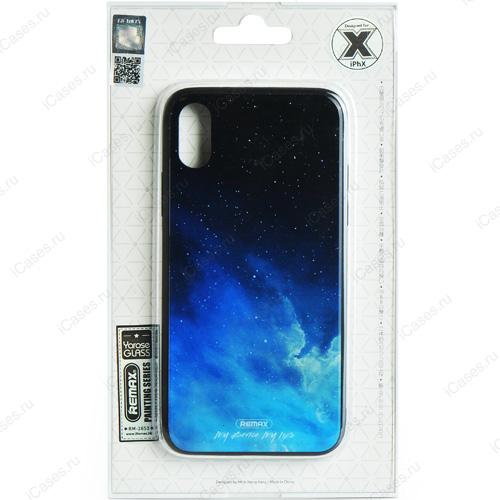 Чехол Remax Painting Series для iPhone X (Звёздное небо)Чехлы для iPhone X<br>Оригинальный чехол Remax, без сомнения, является превосходной комбинацией стиля и надежности!<br><br>Цвет товара: Чёрный<br>Материал: Пластик