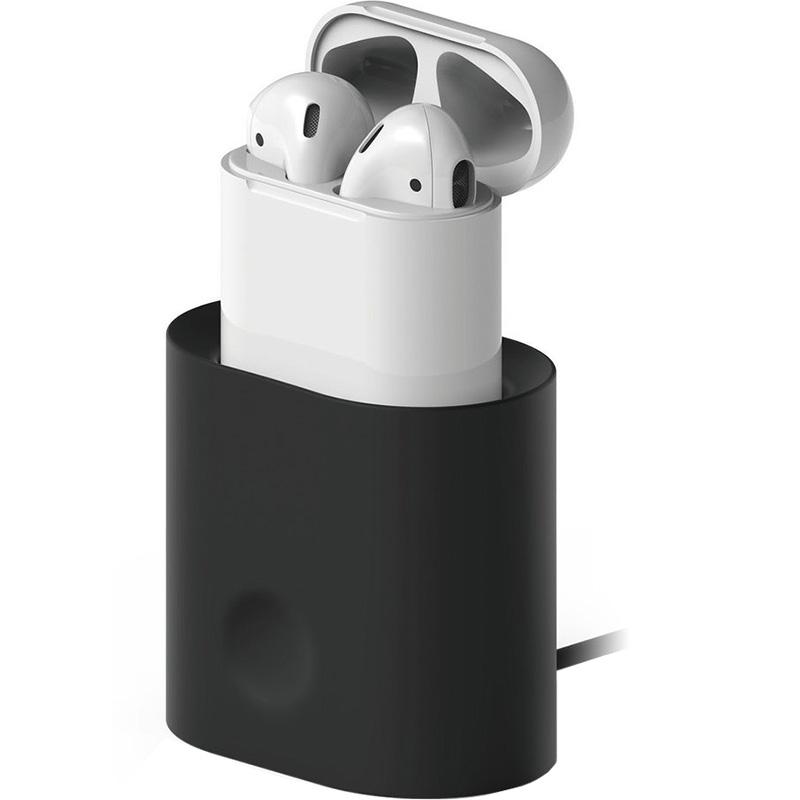 Док-станция Elago Charging Station для AirPods чёрнаяКабели и аксессуары для наушников<br>Заряжайте свои наушники проще, чем когда-либо!<br><br>Цвет: Чёрный<br>Материал: Силикон
