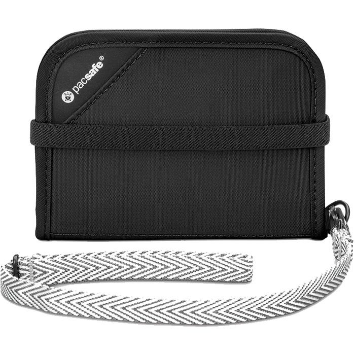 Кошелёк PacSafe RFIDsafe V50 чёрныйКошельки и портмоне<br>PacSafe RFIDsafe V50 - лучшая защита для всех ваших ценностей!<br><br>Цвет товара: Чёрный<br>Материал: Текстиль, ткань RFIDsafe