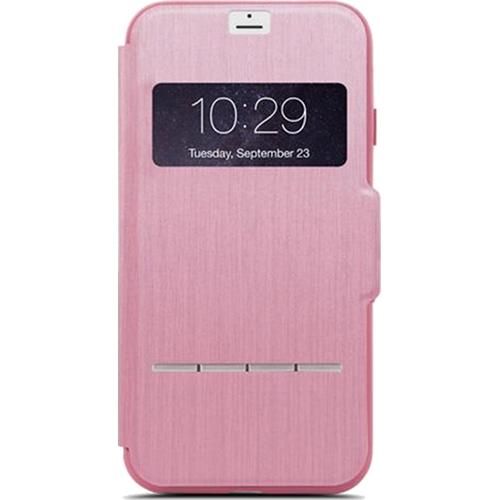 Чехол Moshi SenseCover для iPhone 7 Plus розовыйЧехлы для iPhone 7 Plus<br>Moshi SenseCover — безупречное слияние защиты и свежих инженерных идей. Чехол-книжка с сенсорным покрытием позволяет использовать многие функции...<br><br>Цвет товара: Розовый<br>Материал: Поликарбонат, полиуретановая кожа