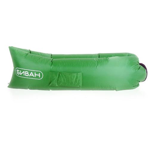 Надувной диван Биван зелёныйКемпинговая мебель<br>Надувной диван Биван зелёный<br><br>Цвет товара: Зелёный<br>Материал: Парашютный шёлк