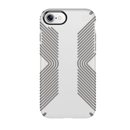 Чехол Speck Presidio Grip для iPhone 7 (Айфон 7) белый/серыйЧехлы для iPhone 7<br>Чехол Speck Grip Presidio для iPhone 7 - белый/серый<br><br>Цвет товара: Белый<br>Материал: Пластик, силикон