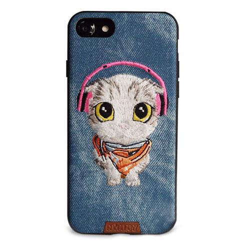 Чехол Nimmy Pet Denim для iPhone 7 Котёнок