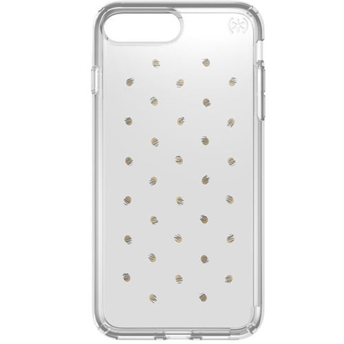 Чехол Speck Presidio Clear + Print для iPhone 7 Plus (Айфон 7 Плюс) серебристый/прозрачныйЧехлы для iPhone 7 Plus<br>Чехол Speck Hazelnut Presidio Clear + Prints для iPhone 7 Plus - серебряный/золотой<br><br>Цвет товара: Серебристый<br>Материал: Поликарбонат