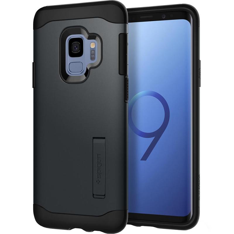 Чехол Spigen Slim Armor для Samsung Galaxy S9 чёрный (592CS22880)Чехлы для Samsung Galaxy S9/S9 Plus<br>Ни царапины, ни трещины, ни сколы будут не страшны вашему Samsung Galaxy S9 в чехле от Spigen.<br><br>Цвет: Чёрный<br>Материал: Поликарбонат, полиуретан