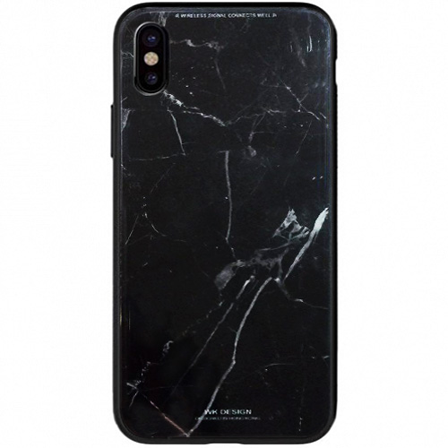 Чехол WK Design Azure Stone Series для iPhone X (стиль 4)Чехлы для iPhone X<br>Чехлы WK Design Azure Stone Series — это яркие и оригинальные принты, которые вдохновят вас и окружающих!<br><br>Цвет товара: Чёрный<br>Материал: Пластик