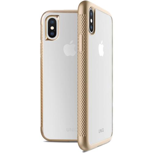 Чехол Uniq Glacier Frost Xtreme для iPhone X золотойЧехлы для iPhone X<br>Uniq для iPhone X Glacier Frost Xtreme Gold<br><br>Цвет товара: Золотой<br>Материал: Поликарбонат, термопластичный полиуретан