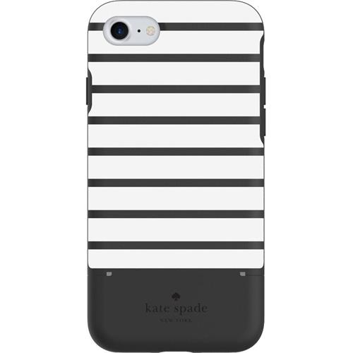 Чехол Kate Spade New York Credit Card Case для iPhone 8/7 (Surprise Stripe) чёрный/белыйЧехлы для iPhone 7<br>Стильный и функциональный чехол Kate Spade New York с оригинальной текстурой и секретным отделением для карт является превосходной комбинацией ст...<br><br>Цвет товара: Чёрный<br>Материал: Пластик