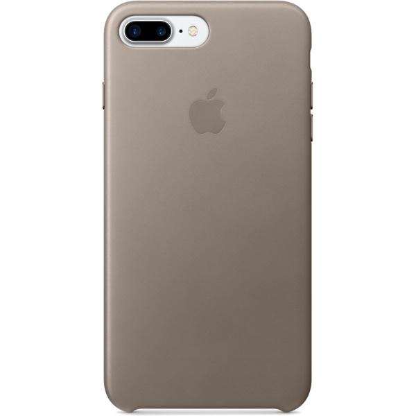 Кожаный чехол Apple Case для iPhone 7 Plus (Айфон 7 Плюс) платиново-серый