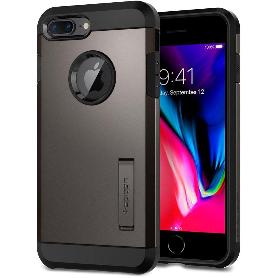 Чехол Spigen Tough Armor 2 для iPhone 8 Plus, iPhone 7 Plus стальной (055CS22244)Чехлы для iPhone 7 Plus<br>Spigen Tough Armor 2 — самый надёжный и прочный чехол среди серии Armor.<br><br>Цвет товара: Серый<br>Материал: Поликарбонат, полиуретан