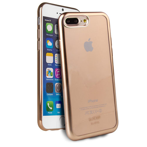 Чехол Uniq Glacier Frost для iPhone 7 Plus (Айфон 7 Плюс) золотистыйЧехлы для iPhone 7 Plus<br>Чехол Uniq Glacier Frost для iPhone 7 Plus (Айфон 7 Плюс) золотистый<br><br>Цвет товара: Золотой<br>Материал: Поликарбонат, полиуретан