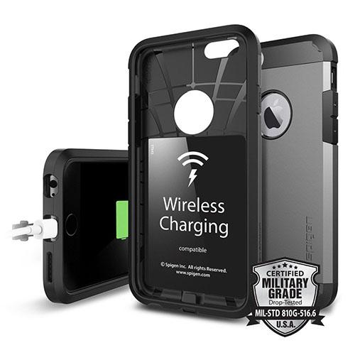 Чехол Spigen Tough Armor Volt для iPhone 6/6s чёрный (SGP11560)Чехлы для iPhone 6/6s<br>Гладкий каркас, имеющий металлизированную отделку, округлое окошко для фирменного логотипа, накладки на кнопки регулирования громкости и ...<br><br>Цвет товара: Чёрный<br>Материал: Поликарбонат
