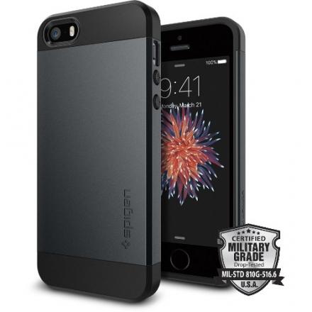 Чехол Spigen Slim Armor для iPhone 5/5S/SE синий металик (SGP-041CS20174)Чехлы для iPhone 5s/SE<br>Чехол Spigen Slim Armor для iPhone SE синий металик (SGP-041CS20174)<br><br>Цвет товара: Синий<br>Материал: Поликарбонат, полиуретан