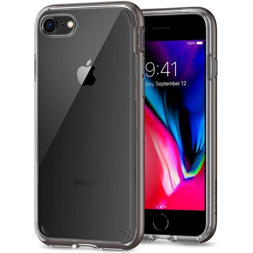 Чехол Spigen Neo Hybrid Crystal 2 для iPhone 7, iPhone 8 стальной (054CS22363)Чехлы для iPhone 7<br>Spigen Neo Hybrid Crystal 2 — идеальный чехол для вашего iPhone 8!<br><br>Цвет товара: Серый<br>Материал: Поликарбонат, полиуретан