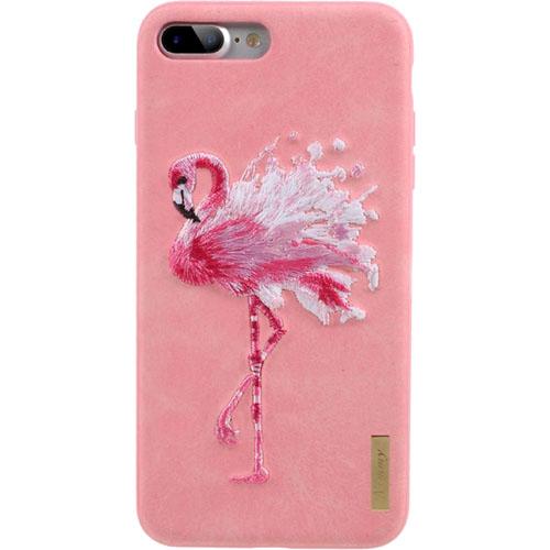 Чехол Nimmy Animal Denim для iPhone 7 Plus / 8 Plus (Фламинго) розовыйЧехлы для iPhone 7 Plus<br>Оригинальный и надёжный чехол Nimmy Animal Denim притягивает взгляд окружающих с первой секунды.<br><br>Цвет товара: Розовый<br>Материал: Пластик, силикон, текстиль
