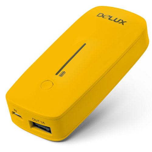 Внешний аккумулятор Delux DLP-09 5200 mAh жёлтыйВнешние аккумуляторы<br>Дополнительный аккумулятор Delux DLP-09 5200mAh желтый<br><br>Цвет товара: Жёлтый<br>Материал: Пластик
