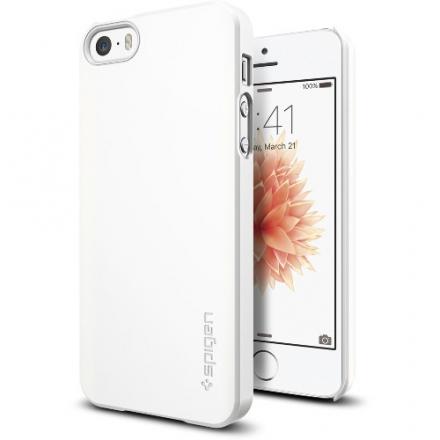 Чехол Spigen Thin Fit для iPhone 5/5S/SE белый (SGP-041CS20169)Чехлы для iPhone 5s/SE<br>Чехол Spigen Thin Fit для iPhone SE белый (SGP-041CS20169)<br><br>Цвет товара: Белый<br>Материал: Пластик