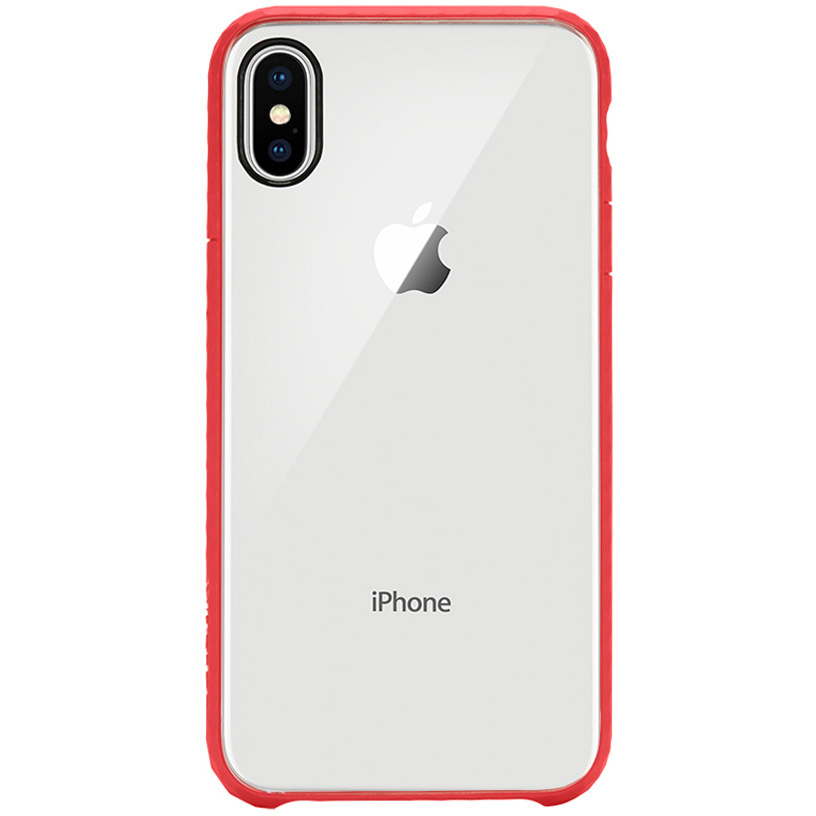 Чехол Incase Pop Case для iPhone X прозрачный/красныйЧехлы для iPhone X<br>Incase Pop Case — один из самых тонких, надёжных и привлекательных чехлов для вашего любимого iPhone X!<br><br>Цвет товара: Красный<br>Материал: Поликарбонат, термопластичный полиуретан