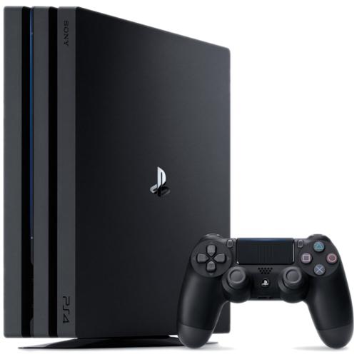 Игровая приставка Sony PlayStation 4 Pro (1ТБ) чёрнаяPlayStation 4 и игры<br>Игровая приставка Sony PlayStation 4 Pro (1ТБ) чёрная<br><br>Цвет товара: Чёрный<br>Материал: Пластик, металл<br>Модификация: Single Pack PS 4 Pro