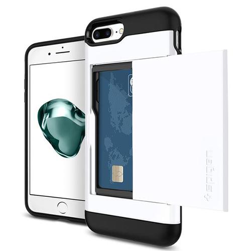 Чехол Spigen Slim Armor CS для iPhone 7 Plus ультрабелый (043CS21044)Чехлы для iPhone 7/7 Plus<br><br><br>Цвет товара: Белый<br>Материал: Поликарбонат, термопластичный полиуретан
