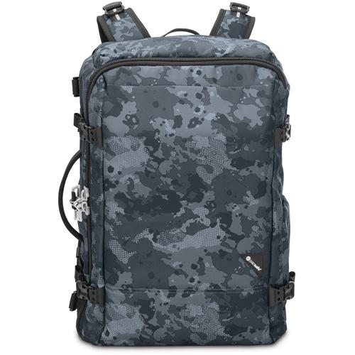 Рюкзак Pacsafe Vibe 40 серый камуфляжРюкзаки<br>Вместительный и практичный рюкзак Vibe 40 будет вашим надежным спутником в путешествиях.<br><br>Цвет товара: Серый<br>Материал: Текстиль, нержавеющая сталь, пластик