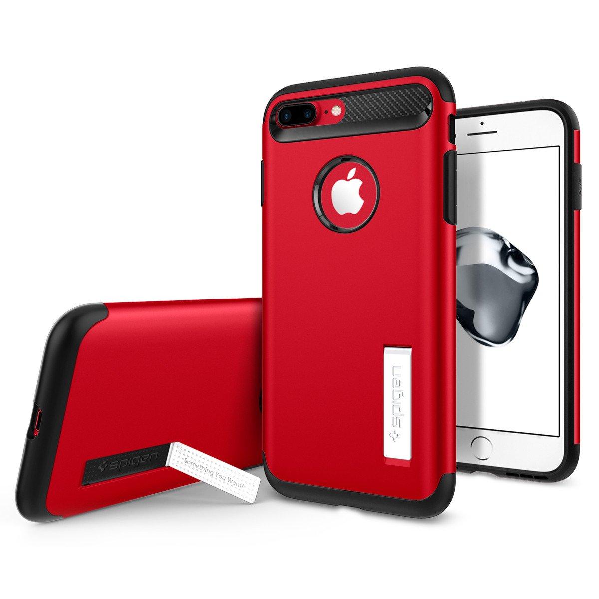 Чехол Spigen Slim Armor для iPhone 7 Plus красный (SGP-043CS21521)Чехлы для iPhone 7 Plus<br>Spigen Slim Armor — это тончайшая двухслойная защита для вашего Айфон.<br><br>Цвет товара: Красный<br>Материал: Поликарбонат, полиуретан