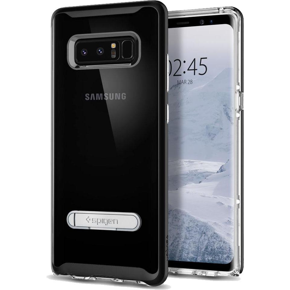 Чехол Spigen Crystal Hybrid для Samsung Galaxy Note 8 чёрный (587CS21842)Чехлы для Samsung Galaxy Note<br>Spigen Crystal Hybrid — прозрачная защита, созданная исключительно для Samsung Galaxy Note 8.<br><br>Цвет товара: Чёрный<br>Материал: Термопластичный полиуретан, поликарбонат
