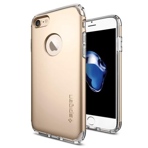 Чехол Spigen Hybrid Armor для iPhone 7, iPhone 8 золотой (SGP-042CS20695)Чехлы для iPhone 7<br>Чехол Spigen Hybrid Armor для iPhone 7 (Айфон 7) золотой (SGP-042CS20695)<br><br>Цвет товара: Золотой<br>Материал: Поликарбонат, полиуретан
