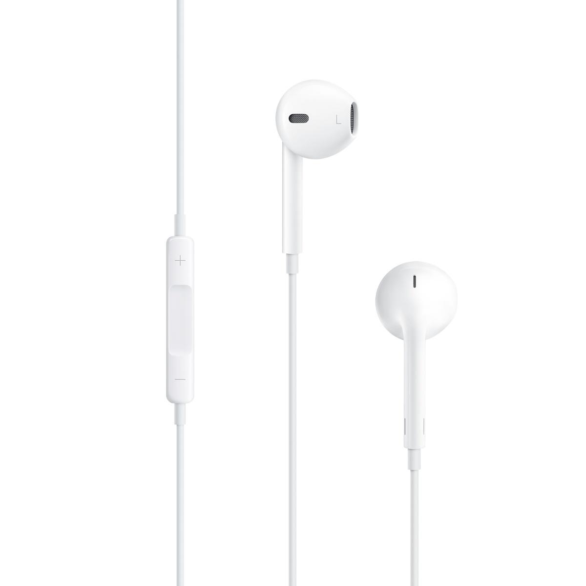 Наушники Apple EarPods для iPhone/iPod/iPad (MD827Z/MA - MNHF2ZM/A)Внутриканальные наушники<br>Наушники Apple EarPods с разъёмом 3,5 мм<br><br>Цвет товара: Белый<br>Материал: Пластик, силикон