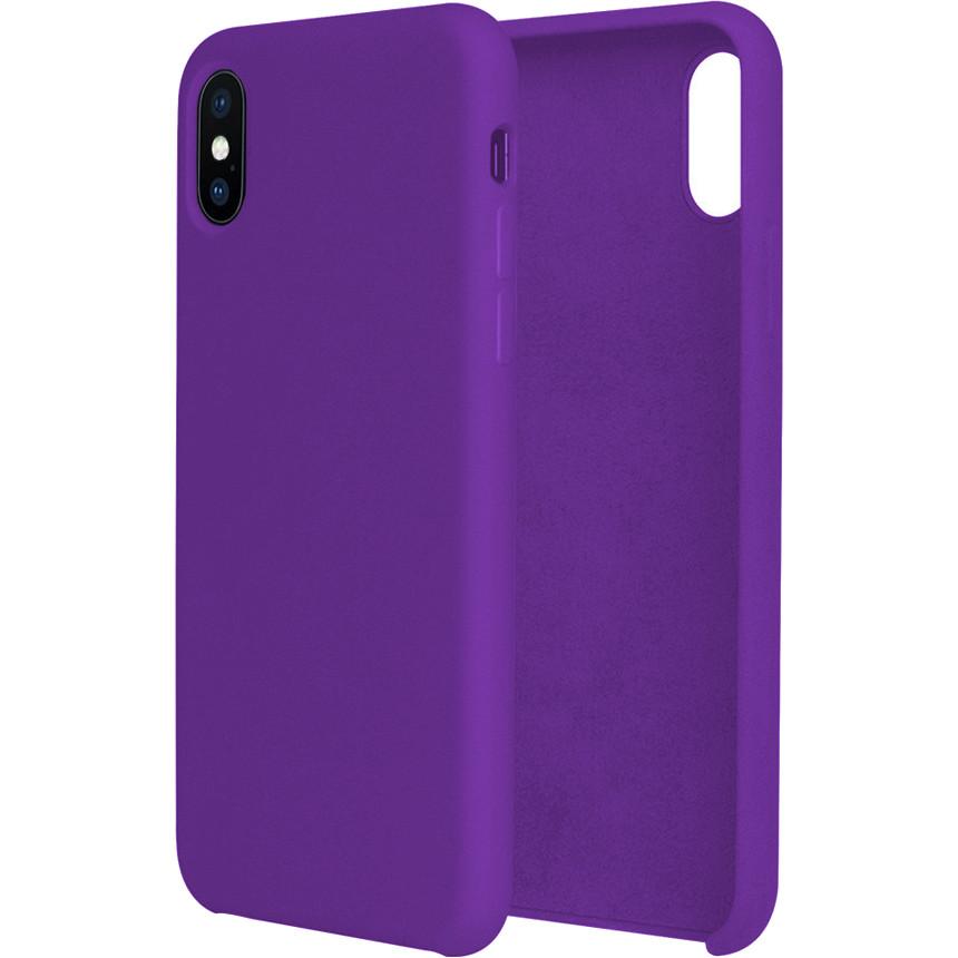 Силиконовый чехол G-CASE Original Flexible Silicone Gel Case для iPhone X фиолетовыйЧехлы для iPhone X<br>Чехол из гелеобразного силикона с мягкой подкладой из микрофибры. Он гибкий и лёгкий, идеально облегающий корпус мощного смартфона iPhone X.<br><br>Цвет товара: Фиолетовый<br>Материал: Гелеобразный гиппоаллергенный силикон, микрофибра