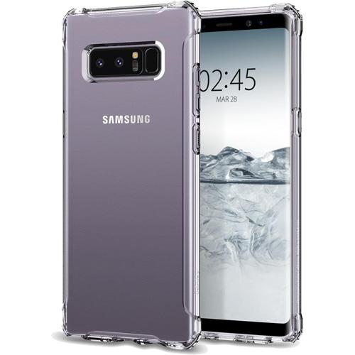 Чехол Spigen Rugged Crystal для Samsung Galaxy Note 8 кристально-прозрачный (587CS22062)Чехлы для Samsung Galaxy Note<br>В чехле Spigen Rugged Crystal ваш Samsung Galaxy Note 8 будет готов практически к любым приключениям и испытаниям.<br><br>Цвет товара: Прозрачный<br>Материал: Термопластичный полиуретан