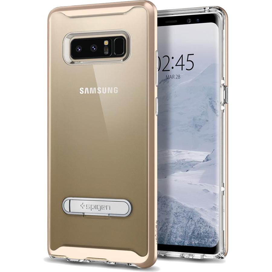 Чехол Spigen Crystal Hybrid для Samsung Galaxy Note 8 золотистый шампань (587CS21840)Чехлы для Samsung Galaxy Note<br>Spigen Crystal Hybrid — прозрачная защита, созданная исключительно для Samsung Galaxy Note 8.<br><br>Цвет товара: Золотой<br>Материал: Термопластичный полиуретан, поликарбонат