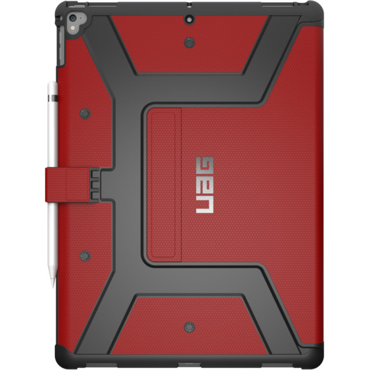 Чехол UAG Metropolis Case для iPad Pro 12.9 (2017) красный MagmaЧехлы для iPad Pro 12.9<br>UAG Metropolis Case обладает всеми современными и необходимыми функциями.<br><br>Цвет товара: Красный<br>Материал: Композитный пластик, силикон