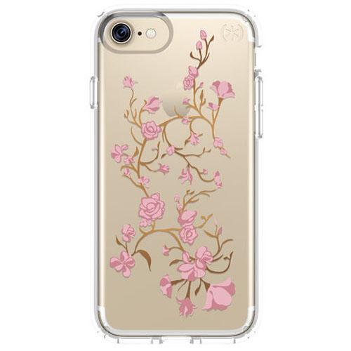Чехол Speck Presidio Clear + Print для iPhone 7 (Айфон 7) розовый/прозрачныйЧехлы для iPhone 7<br>Чехол Speck Almond Presidio Clear + Print для iPhone 7 - розовый/прозрачный<br><br>Цвет товара: Розовый<br>Материал: Поликарбонат