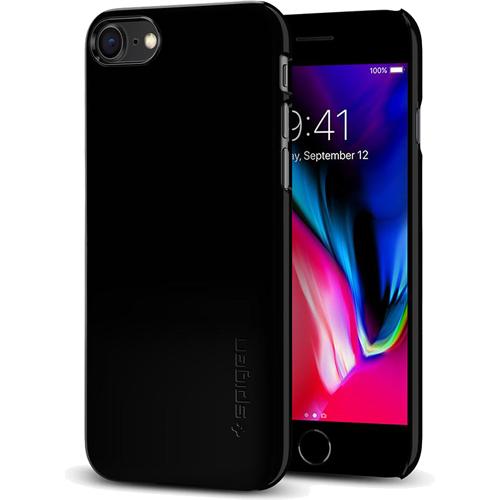 Чехол Spigen Thin Fit для iPhone 8 (Айфон 8) ультрачёрный (SGP-054CS22210)Чехлы для iPhone 8<br>Spigen Thin Fit — это чехол с лёгким и свежим дизайном, который создан специально для iPhone 8!<br><br>Цвет товара: Чёрный<br>Материал: Поликарбонат