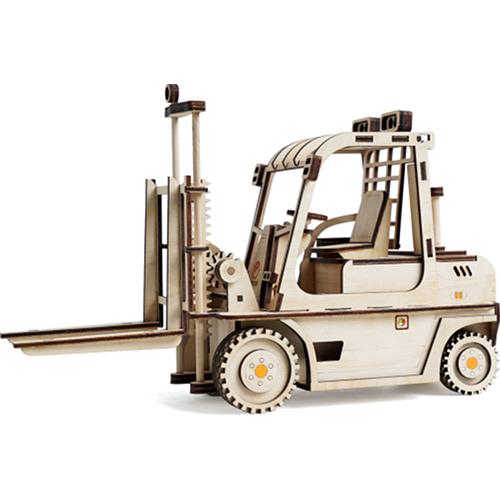 Конструктор 3D Lemmo деревянный Погрузчик3D пазлы, конструкторы, головоломки<br>Конструктор Lemmo 3D деревянный, подвижный - Погрузчик<br><br>Цвет товара: Бежевый<br>Материал: Натуральное дерево
