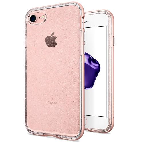 Чехол Spigen Neo Hybrid Crystal Glitter для iPhone 7 (Айфон 7) розовое золото (SGP-042CS21420)Чехлы для iPhone 7<br>Spigen Neo Hybrid Crystal Glitter — это первый чехол с блеском, который отлично смотрится на iPhone 7!<br><br>Цвет товара: Розовое золото<br>Материал: Термопластичный полиуретан, поликарбонат
