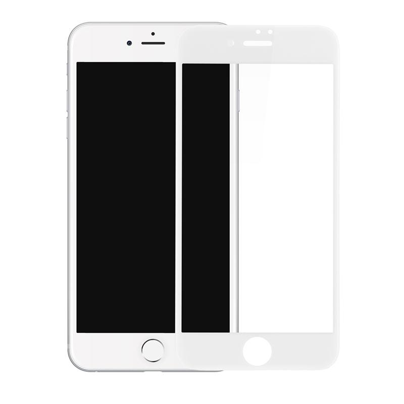 Защитное стекло Baseus 0.2 Silk-screen 3D Arc Protective Film для iPhone 8 Plus/7 Plus белоеСтекла/Пленки на смартфоны<br>Защитное стекло — один из важнейших аксессуаров для вашего iPhone!<br><br>Цвет товара: Белый<br>Материал: Закалённое стекло