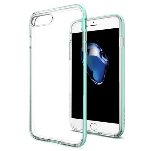 Чехол Spigen Neo Hybrid Crystal для iPhone 7 Plus (Айфон 7 Плюс) мятный (SGP-043CS20541)Чехлы для iPhone 7 Plus<br>Чехол Spigen для iPhone 7 Plus Neo Hybrid Crystal мятный (043CS20541)<br><br>Цвет товара: Мятный<br>Материал: Поликарбонат, полиуретан