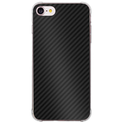 Чехол Momax Carbon F1 Case для iPhone 7 чёрный карбон