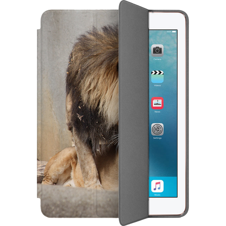 Чехол Muse Smart Case для iPad Pro (10.5) Лев и львицаЧехлы для iPad Pro 10.5<br>Чехлы Muse Smart Case — это индивидуальность, насыщенность красок, оригинальные принты и надёжная защита от повреждений.<br><br>Цвет: Разноцветный<br>Материал: Поликарбонат, полиуретановая кожа