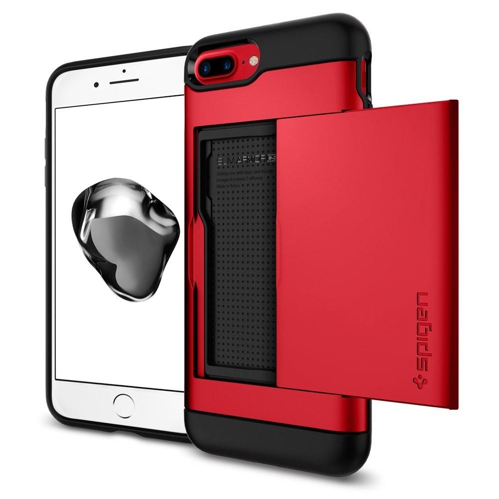 Чехол Spigen Slim Armor CS для iPhone 7 Plus красный (043CS21730)Чехлы для iPhone 7 Plus<br><br><br>Цвет товара: Красный<br>Материал: Поликарбонат, термопластичный полиуретан