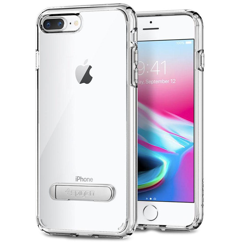 Чехол Spigen Ultra Hybrid S для iPhone 8 Plus, iPhone 7 Plus кристально-прозрачный (055CS22243)Чехлы для iPhone 7 Plus<br>Spigen Ultra Hybrid S — один из самых тонких, надёжных и привлекательных чехлов!<br><br>Цвет товара: Прозрачный<br>Материал: Поликарбонат, полиуретан