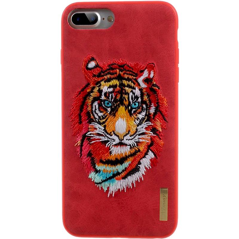 Чехол Nimmy Animal Denim для iPhone 7 Plus / 8 Plus (Тигр) красныйЧехлы для iPhone 7 Plus<br>Чехол для iPhone 7 Plus Nimmy Animal стиль 8<br><br>Цвет товара: Красный<br>Материал: Пластик, силикон, текстиль