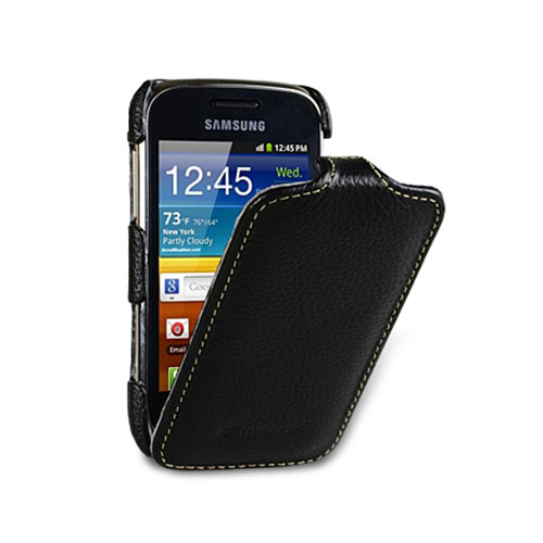 Чехол Melkco Premium Leather Case Jacka Type для Samsung Galaxy Mini 2 чёрный