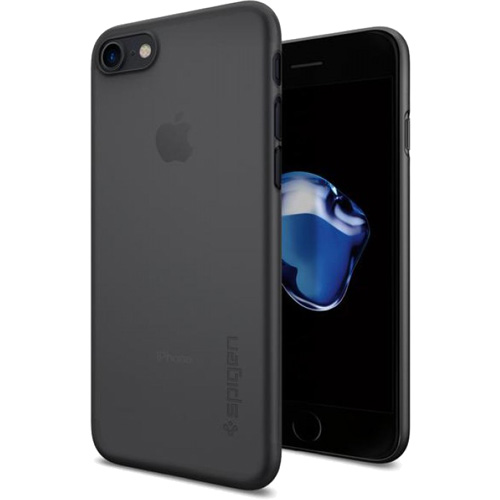 Чехол Spigen Air Skin для iPhone 7 (Айфон 7) чёрный (SGP-042CS20869)Чехлы для iPhone 7/7 Plus<br>Ультратонкий и ультралёгкий чехол Spigen Air Skin для iPhone 7.<br><br>Цвет товара: Чёрный<br>Материал: Поликарбонат