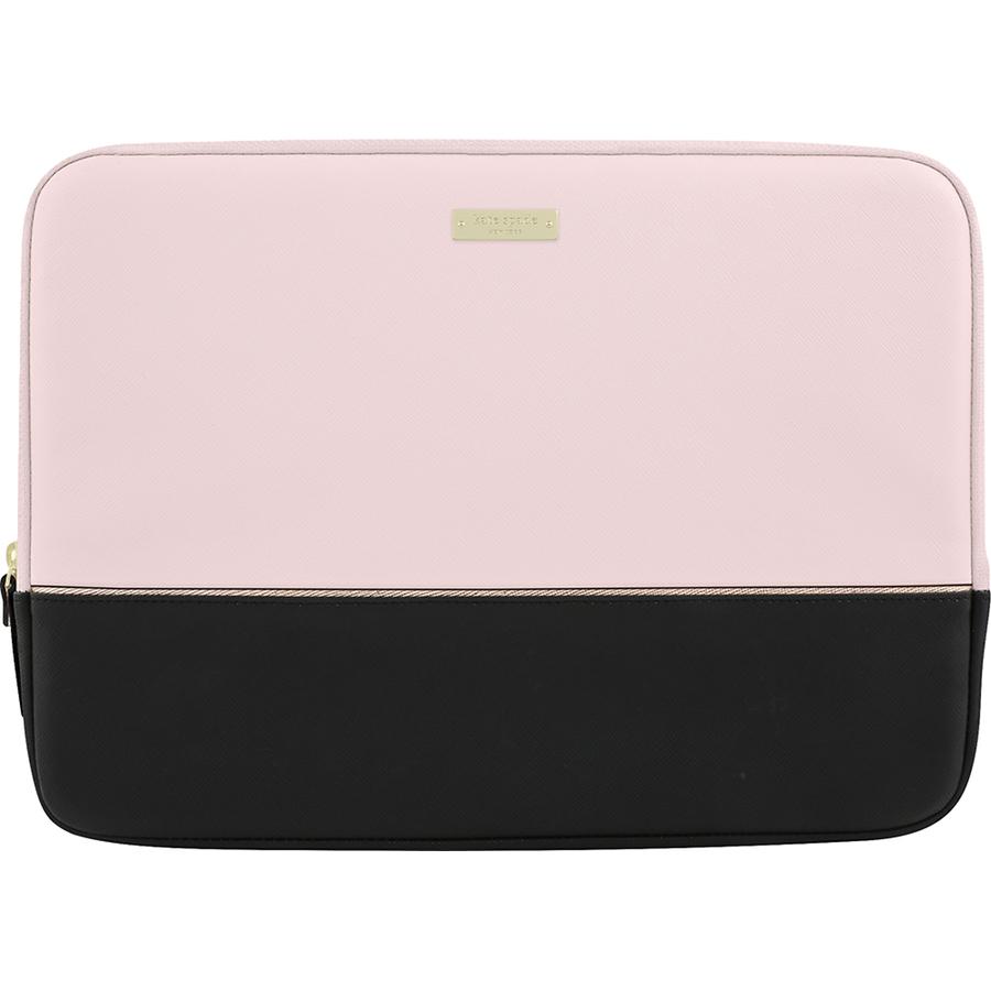 Чехол Kate Spade New York Color-Block Sleeve для MacBook 13 Saffiano Black/Rose Quartz/Rose GoldЧехлы для MacBook Air 13<br>Kate Spade New York Color-Block Sleeve — стильный и надёжный чехол для вашего любимого лэптопа.<br><br>Цвет товара: Розовый<br>Материал: Эко-кожа, текстиль